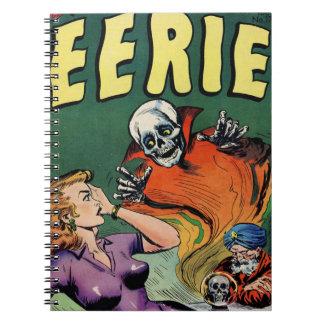 Rétro alerte mystérieuse de bande dessinée carnet