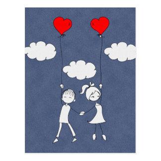 Rétro amoureux d'amour de Valentine Cartes Postales