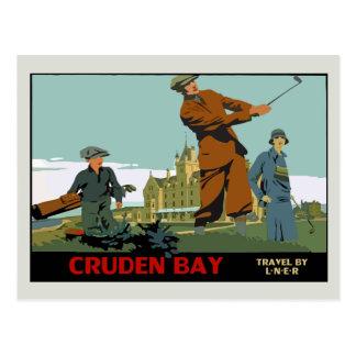 Rétro annonce de golf de l'Ecosse de baie de Carte Postale