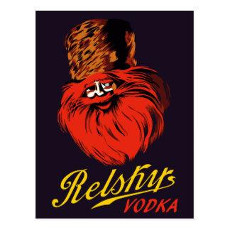 Rétro annonce russe vintage de vodka de style cartes postales