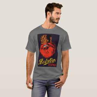 Rétro annonce russe vintage de vodka de style t-shirt