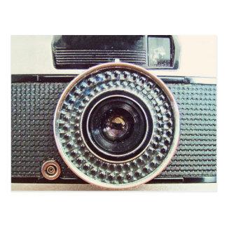 Rétro appareil-photo carte postale