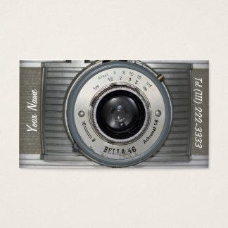 Rétro appareil-photo vintage cartes de visite