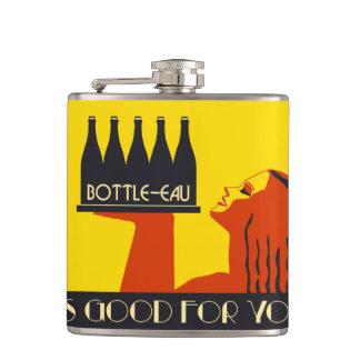rétro art déco du style Bouteille-UCE Flasques