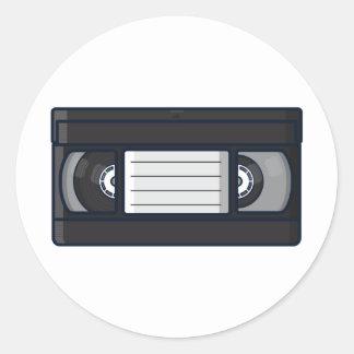 Rétro - autocollant de bande de VHS