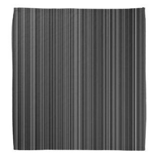 Rétro bandana blanc noir de rayure de gris argenté
