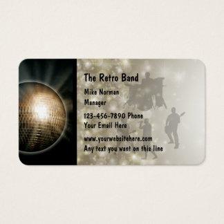 Rétro bande de musique cartes de visite