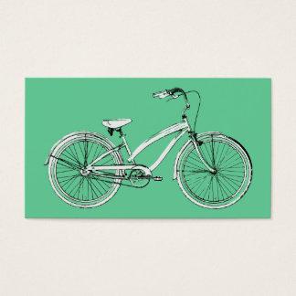 rétro bicyclette cartes de visite