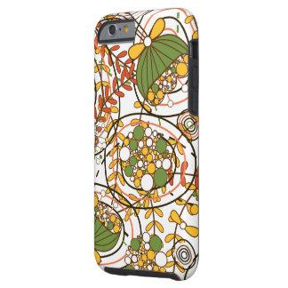 Retro bloemen & de Vectoren van Bladeren Tough iPhone 6 Hoesje