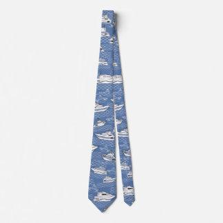 retro boten op blauwe oceaanstropdas tweezijdige feest stropdas