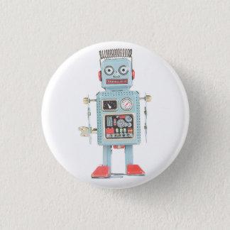 Rétro bouton de robot de jouet badge rond 2,50 cm