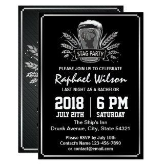 Rétro carte argentée d'enterrement de vie de jeune carton d'invitation  12,7 cm x 17,78 cm
