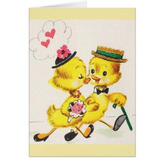 Rétro carte d'anniversaire ou de mariage de