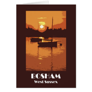 Rétro carte de Bosham 1920s-style