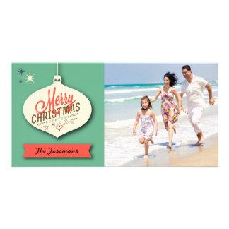 Rétro carte de Noël Photocartes Personnalisées