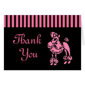 Rétro carte de remerciements de caniche
