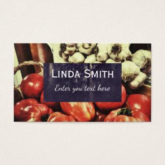 Rétro carte de visite de cuisine