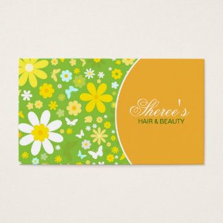 Rétro carte de visite floral