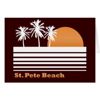 Rétro carte de voeux de plage de St Peter