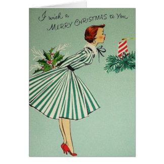 Rétro carte de voeux vintage de Noël