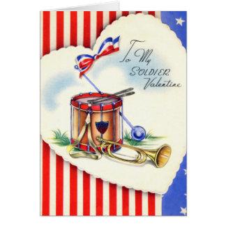 Rétro carte militaire de Saint-Valentin des USA