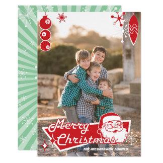 Rétro carte photo atomique de Noël