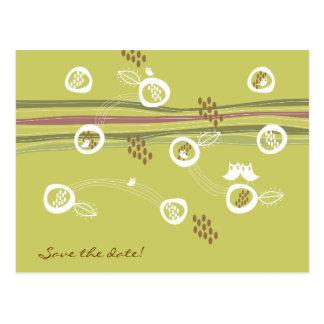 Rétro carte postale d'Économie-le-Date de famille