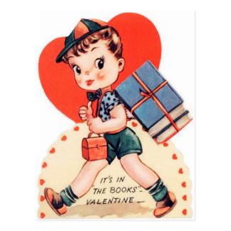 Rétro carte postale vintage d'amusement de livre