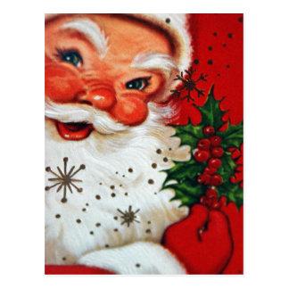 Rétro carte postale vintage de Père Noël de