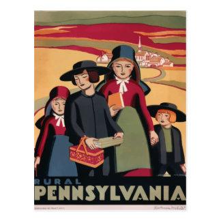 Rétro carte postale vintage Pennsylvanie