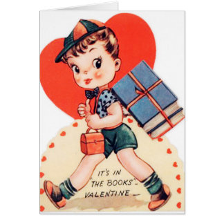 Rétro carte vintage de Valentine d'amusement de