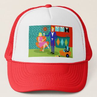 Rétro casquette de camionneur de couples de