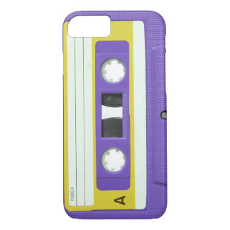 Rétro cassette audio vintage pourpre coque iPhone 7
