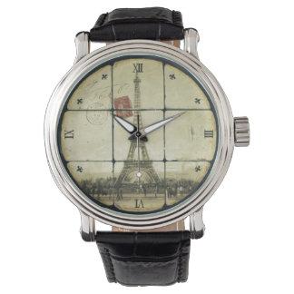 Rétro conception vintage de montre d'horloge de