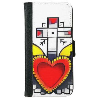 rétro coque iphone abstrait de coeur
