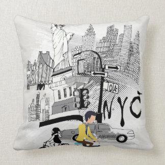 Rétro coussin imprimé par New York City