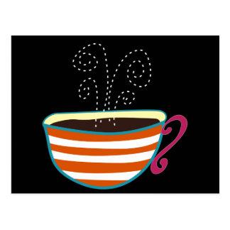 Rétro coutume de thé de tasse de café carte postale