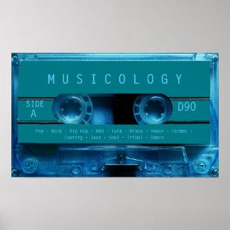 Rétro couverture audio vintage de cassette de poster