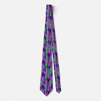 Rétro cravate de style des années 1960 pourpres et