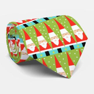 Rétro cravate géométrique de Père Noël