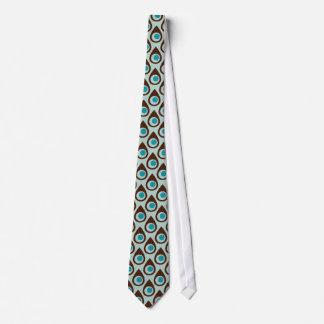 Rétro cravate modelée de larme de Brown bleu par