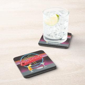 Retro de nachtclub van cocktails drankjes onderzetter