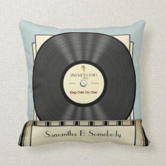 Rétro disque vinyle classique vintage drôle coussins carrés