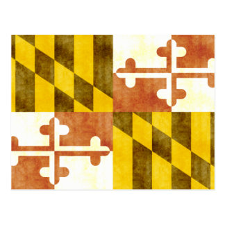 Rétro drapeau vintage du Maryland Carte Postale