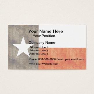 Rétro drapeau vintage du Texas Cartes De Visite