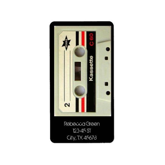 Rétro enregistreur à cassettes de cassette étiquette d'adresse