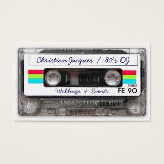 Rétro enregistreur à cassettes frais de musique du cartes de visite