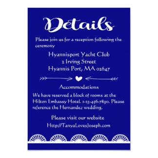 Rétro épouser de détails/directions de dentelle de carton d'invitation  11,43 cm x 15,87 cm