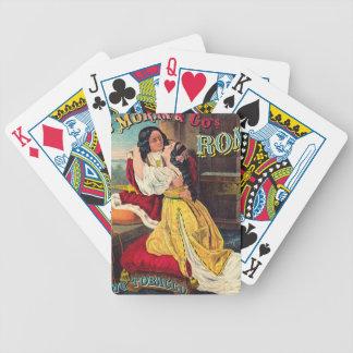 Rétro étiquette de tabac a 1874 jeu de poker