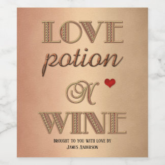 Rétro étiquette drôle de vin de Saint-Valentin